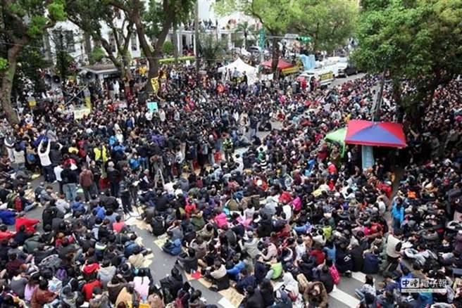2014年台灣爆發太陽花運動。(圖/本報系資料照片)