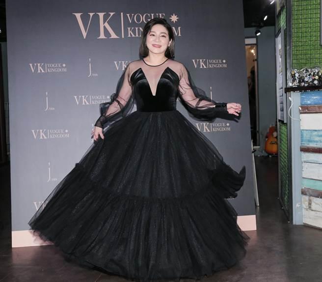 王彩樺8日出席林薇品牌走秀活動。(盧禕祺攝)
