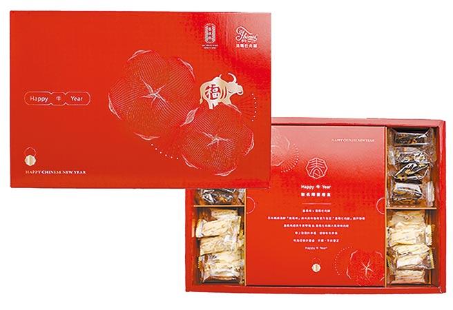 傳統餅家品牌舊振南,春節再度翻玩聯名,與米其林指南官方指定「湯瑪仕肉舖」首次跨界合作聯名禮盒(舊振南提供)