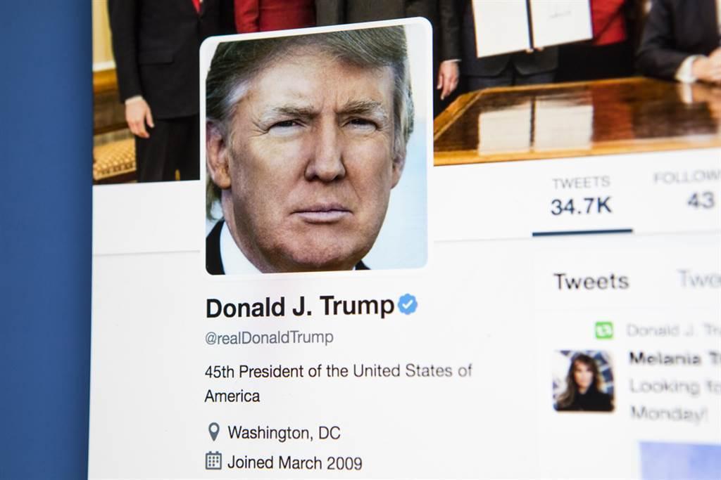 社群媒體公司推特在宣布封鎖川普帳號12小時候,決定永久停權。(示意圖/達志影像)