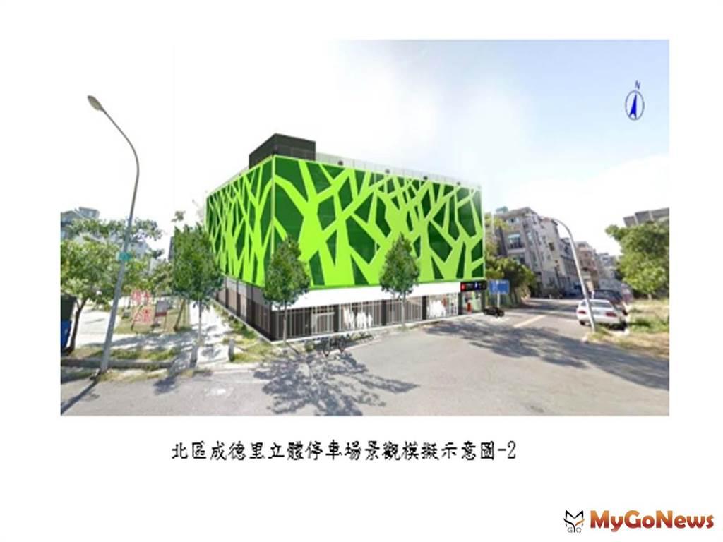 改善南市停車問題 再獲前瞻核定補助成功里與成德里立體停車場(圖/台南市政府)