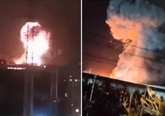 蘑菇雲衝天景象驚人  特斯拉電池供應商 湖南廠爆炸
