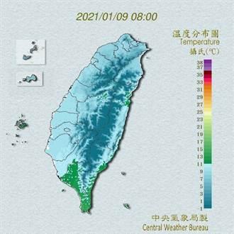 明白天寒流減弱  吳德榮曝:還有2波冷空氣