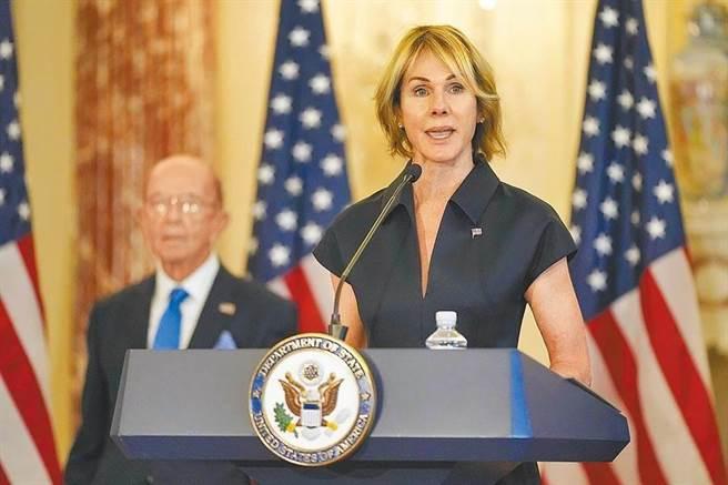 美駐聯合國大使克拉芙特(Kelly Craft)13日將訪台。(圖/路透)