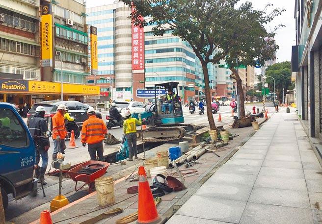 台北市研考會公布最新民調,有近5成市民認為近1年來道路重複開挖情況有改善。(張立勳攝)