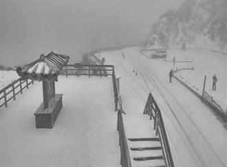 合歡山又噴雪!寒流今南下 低溫急探8度