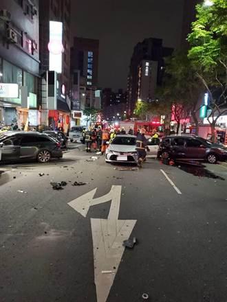 車輛失控連環撞11台車 蘆洲交通大打結