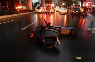 恐怖3連撞 台中男騎士自摔後遭3車撞輾慘死
