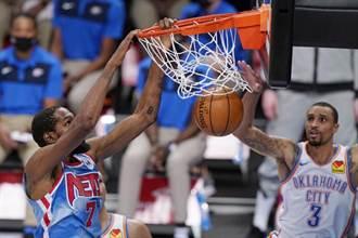 NBA》杜蘭特歸隊36分無用 籃網慘遭雷霆修理