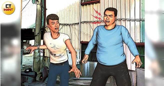 22歲的男子李祐瑜去年10月29日在街頭和患有思覺失調症的陳嫌相遇對看後,雙方起口角衝突,陳嫌竟返家持雙刀砍殺李男10刀致死。(圖/本刊繪圖組)