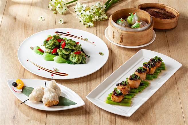 國賓粵菜廳三大元素,本季推出多道全新海鮮美饌。(國賓提供)