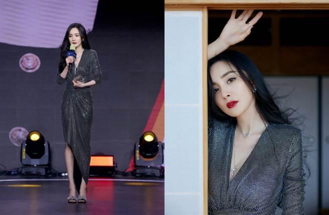 楊冪在2020騰訊娛樂白皮書票選中,強勢拿下「女明星影響力」和「女明星商業價值榜」雙榜第一名。(圖/摘自微博@嘉行杨幂工作室)