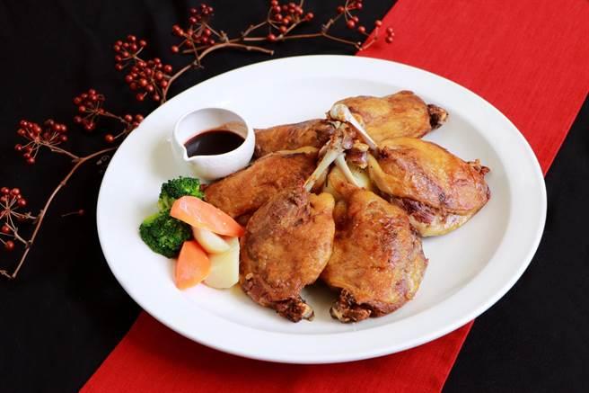 考驗廚師手藝的法式油封鴨。(涵碧樓提供/廖志晃南投傳真)
