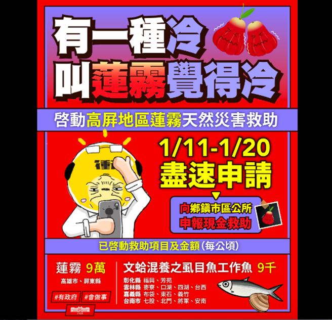 蘇揆指農損救助將簡化申請(蘇揆臉書截圖)