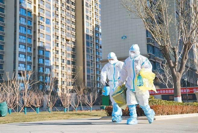 河北省石家莊再增16宗新冠肺炎確診,明起開始第二輪全民檢測。(美聯社)