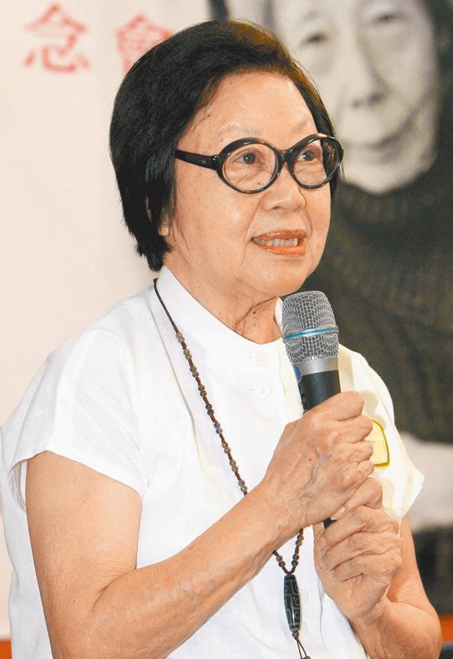 有現代李清照、永遠的青鳥美譽的女詩人蓉子,9日晚間於徐州侄子家中過世,享壽99歲。(本報資料照片)