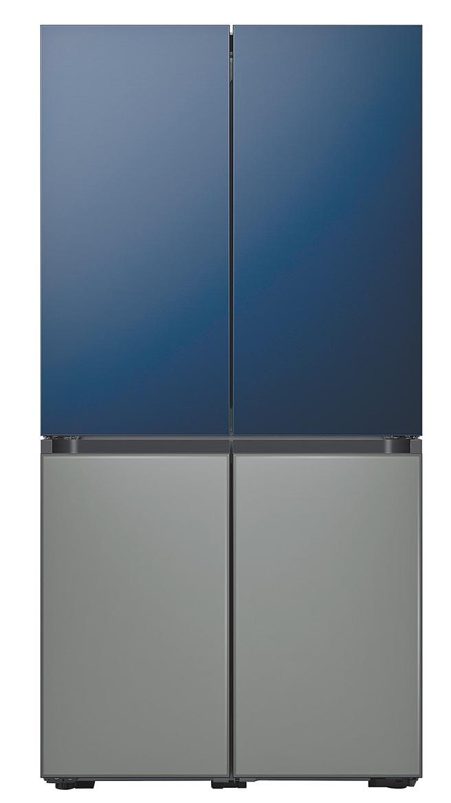三星在今年CES上推出為現代化的廚房而打造的BESPOKE冰箱,特別推出8種獨特的顏色以及玻璃或鋼製表面。(三星Newsroom)