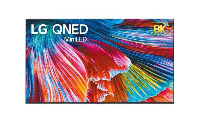 LG在今年CES上推出全新的QNED Mini LED電視,為頂級LCD電視系列的代表作。(LG提供)