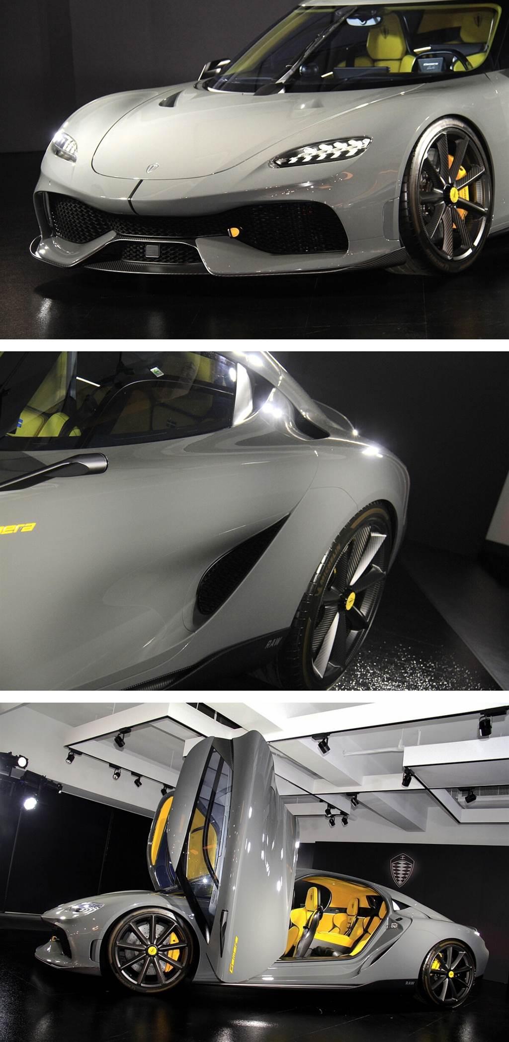 Gemera所搭載Koenigsegg指標性的獨創設計:KATSAD平移式旋轉門,此獨一無二的車門啟閉方式,將原為兩個方向的動作融合成順暢的單一操作概念,造就不容錯認的Koenigsegg標記。