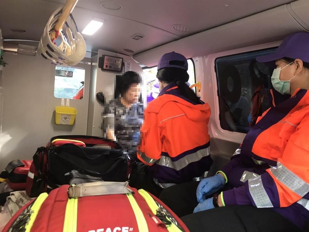 消防單位目前仍尚未解禁,病患送往其他鄰近醫院。(姜霏翻攝)