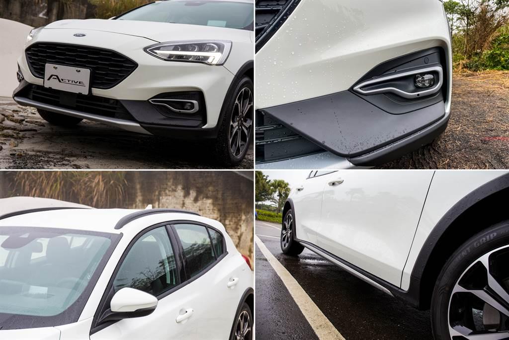 外觀大量採用黑、銀兩色的防刮材質,車頂架則是黑色塗裝,原廠更強調車頂架採用雙重密封防水設計,並可承重75公斤。