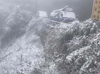 下不停!桃園拉拉山再度降雪 晚上下到現在