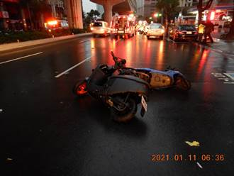 台中保全騎車自摔 2分鐘內遭3車連續衝撞卡車底身亡