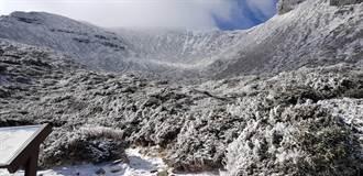 美照曝光!名符其實「雪山」 雪霸處提醒:融冰溼滑要注意