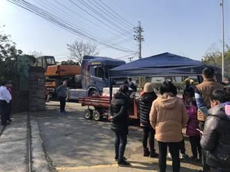 造橋事業廢棄物掩埋場業者進場遭阻 居民抗議引衝突