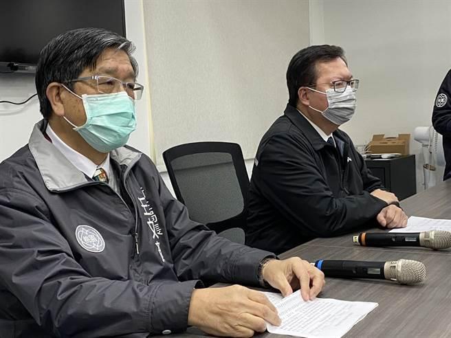 醫護確診新冠肺炎,桃園市長鄭文燦親上火線說明:接觸者有可能再增加。(蔡依珍攝)