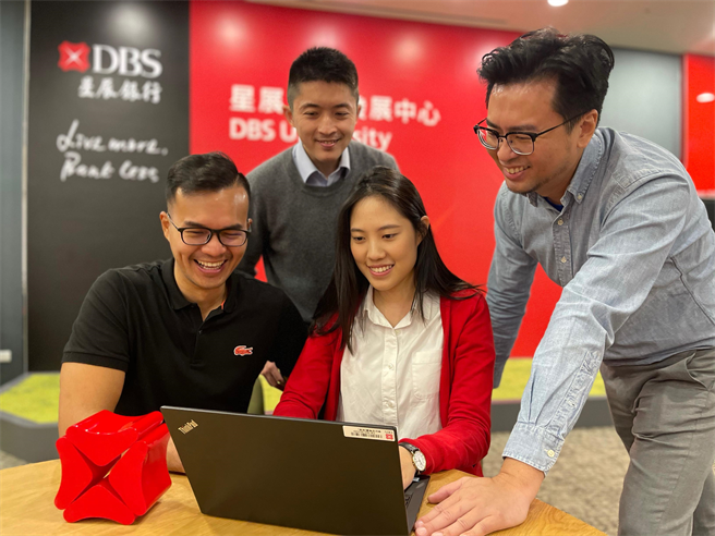 星展集團宣布在台成立「國際金融科技研發中心」,招募至少30位資訊技術人才,打造台灣為金融科技重要基地。(星展提供)