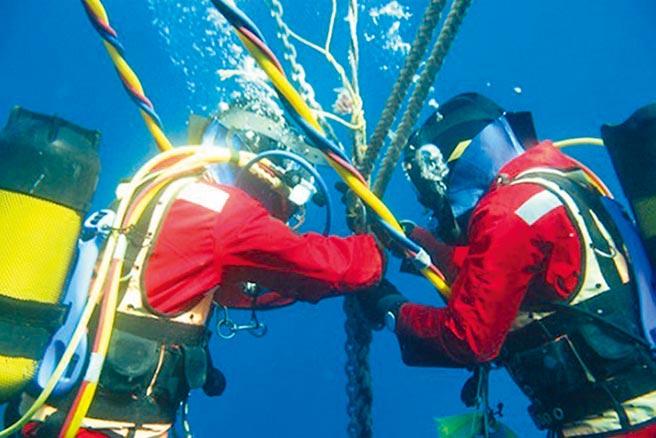 中華電信坦誠,因APG海纜障礙影響HiNet客戶連線美國、日本、中國大陸、香港與新加坡部分網站連線品質,正積極搶修中,預計1月20日會修復。圖為海底電纜維修情形。(摘自網路)