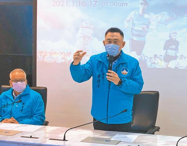 楊鎮浯縣長宣布取消2021金門馬競賽組,強調「這是一個很難的決定!」(李金生攝)