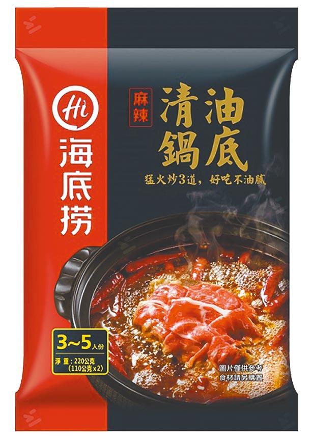PChome 24h購物的海底撈湯底鮮香火鍋湯底6包組,原價948元,2月28日前特價699元。(PChome 24h購物提供)