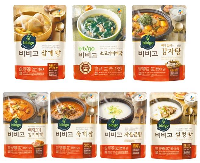 蝦皮購物的韓國CJ bibigo料理包,原價200元至550元,優惠價125元至450元。(蝦皮購物提供)