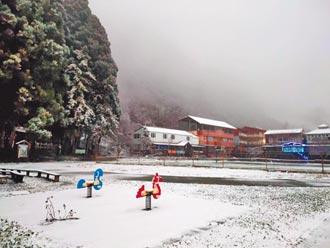 冰封山路 尖石3校放下雪假