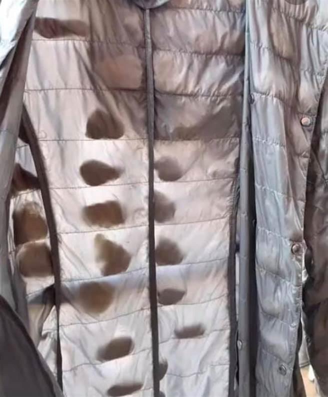 一位民眾分享自己的羽絨外套,<b><a href=