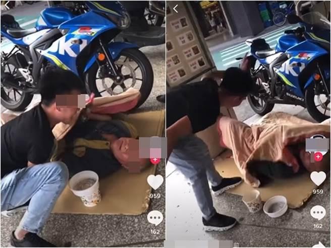 越南移工欺負街友 還拍影片上傳引爆網友怒火(圖片取自/爆料公社)