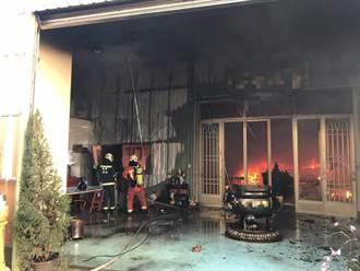 桃園八德寺廟火警冒濃煙 幸無人傷亡受困