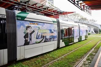 輕軌少女隊彩繪輕軌列車春節連假與遊客遨遊高雄