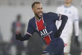 足球》內馬踢進關鍵12碼 大巴黎奪法國超級盃8連霸