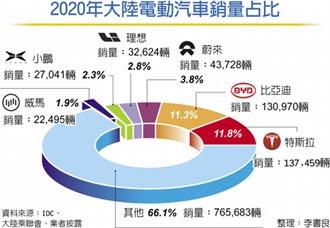 特斯拉2020在陸大賣14萬輛