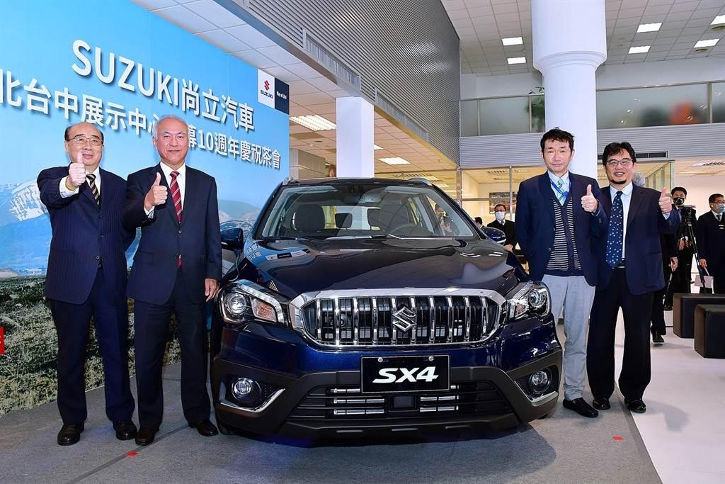 尚立汽車全新整裝的北台中展示中心開幕,SUZUKI TAIWAN同場發表SX4。