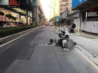 新北骑士疑因超车自摔 惨死公车轮下