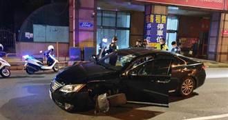 賊星該敗!通緝犯載安毒遇臨檢 衝撞無辜車輛致輪胎噴飛遭逮