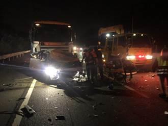 國道3號南下353.8K發生追撞事故 4人輕傷
