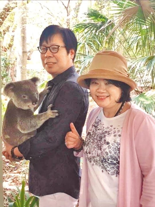 徐明賢(左)、安土美津子夫婦,涉嫌違法吸金被約談到案。(摘自Mitsuko Azuchi臉書/張孝義台北傳真)