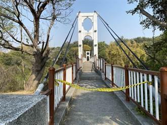 八卦山華陽吊橋下驚見屍體 紫色雨衣下蓋2條人腿嚇壞民眾