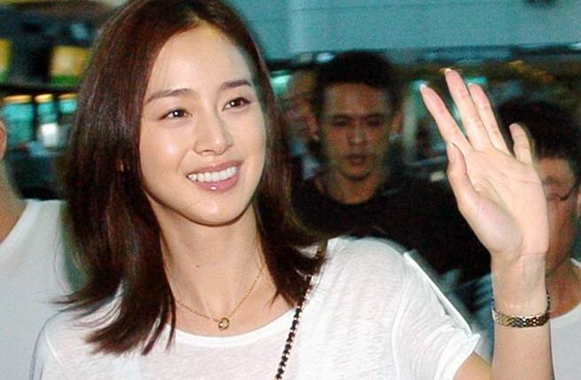 韓國女星金泰希2011年來台宣傳,高顏質令人印象深刻。(本報系資料照)