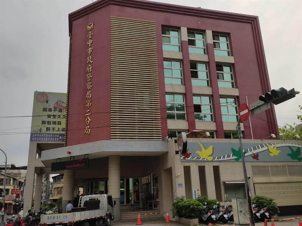 案發地點大樓鄰近台中市警第二分局永興派出所附近。(張妍溱攝)